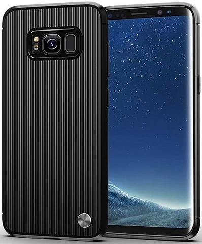 Чехол для Samsung Galaxy S8 Plus цвет Black (черный), серия Bevel от Caseport