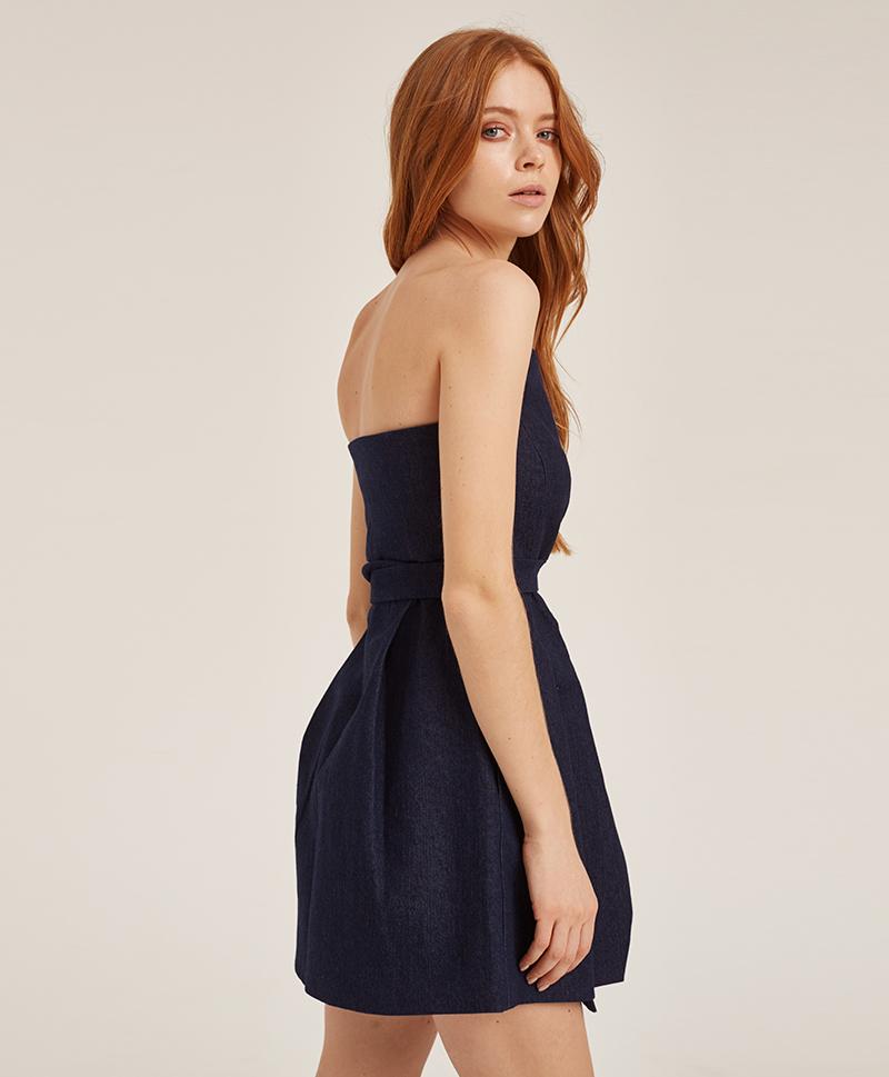 _платье-корсет-из-синего-денима-сбоку