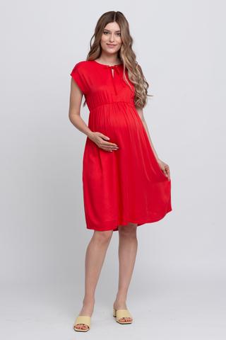 Платье для беременных 11555 красный