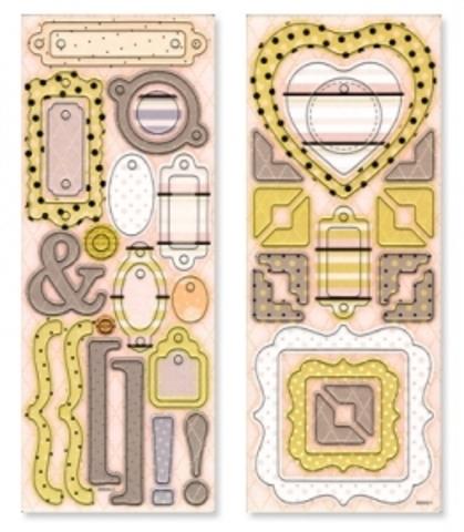 Картонные элементы (чипборд) Рамки