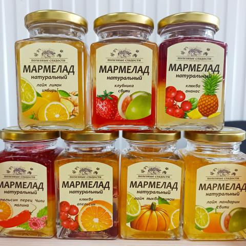 Фотография Натуральный мармелад «Облепиха + Малина» / 250 мл купить в магазине Афлора
