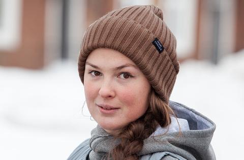 шапка вязаная цвет шоко коричневый SASHA JUNIOR