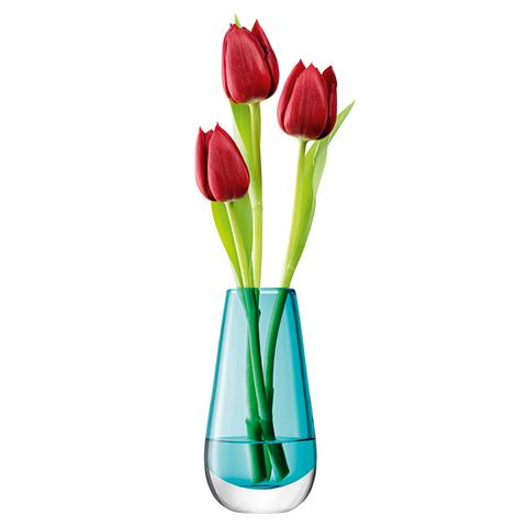 Ваза в форме бутона Flower Colour 14 см бирюзовая