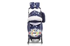 Санки коляска PIKATE Звезды «Синий»