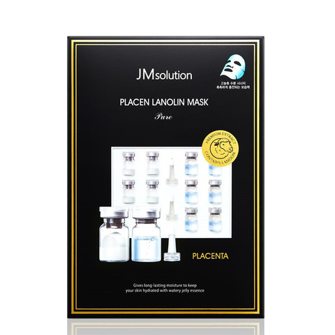 Плацентарная тканевая маска с ланолином JMSolution Placen Lanolin Mask Pure
