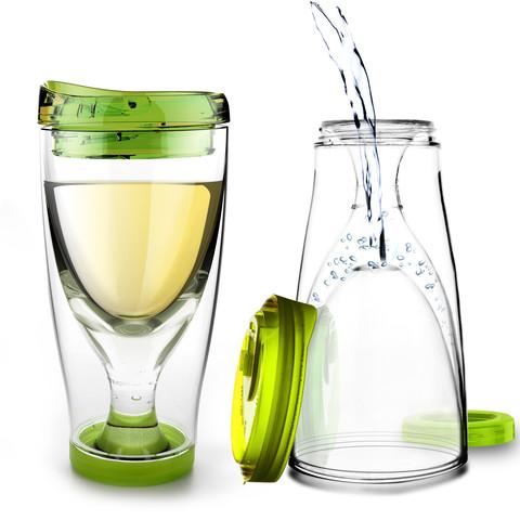 Бокал Asobu Ice vino 2go (0,48 литра), зеленый