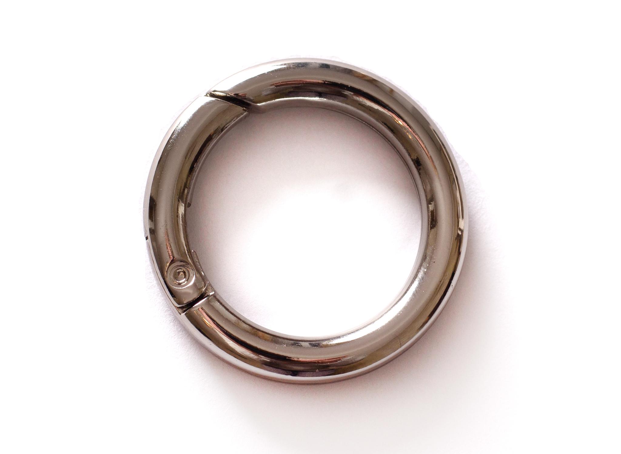 Кольцо карабин 25 мм, никель
