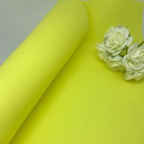 Фоамиран зефирный. Цвет: Лимонный 008