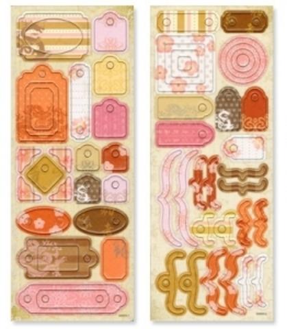 Картонные элементы (чипборд) Ярлычки