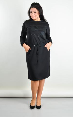Віола. Сукня плюс сайз на кожен день. Чорний.