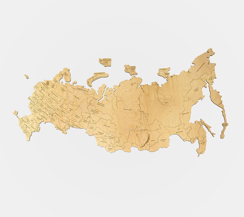 большая карта РФ 1500х795мм