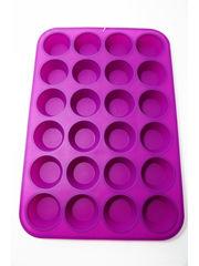 Силиконовая форма для выпечки мини  кексов (капкейков) 24 в1 (диаметр дна 35мм)