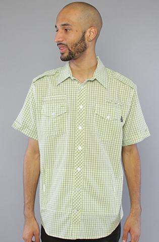 Рубашка зеленая фото спереди