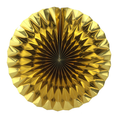 Бумажный диск Золото, 40 см.