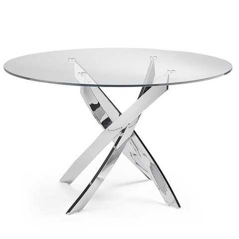 Стол обеденный F2133 стеклянный Ø130