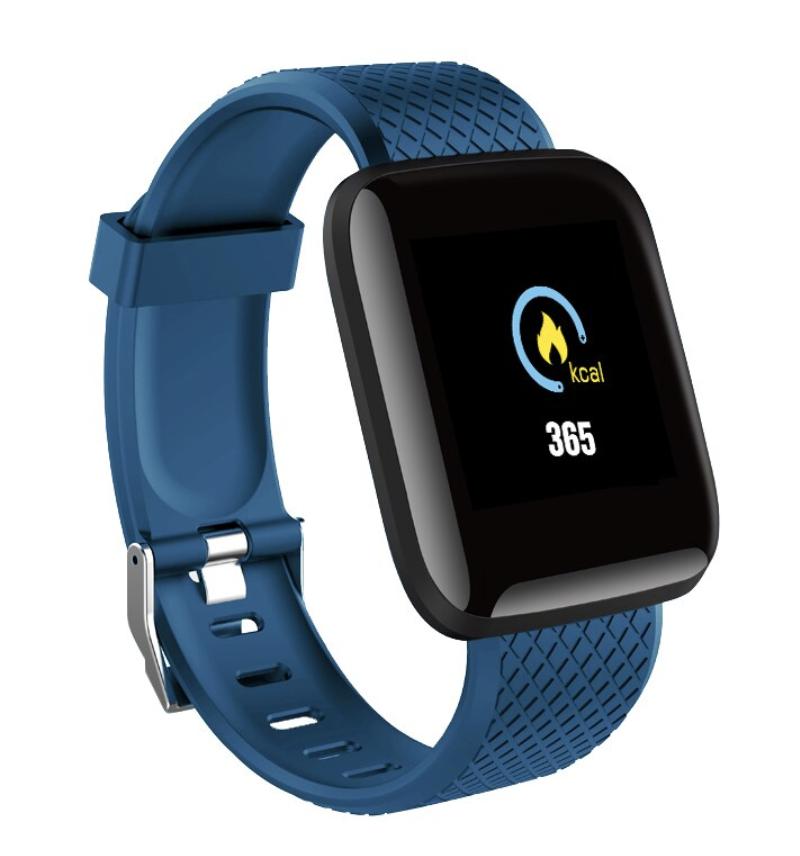 Часы здоровья с измерением давления, пульса и кислорода Health Band №116 (синий )