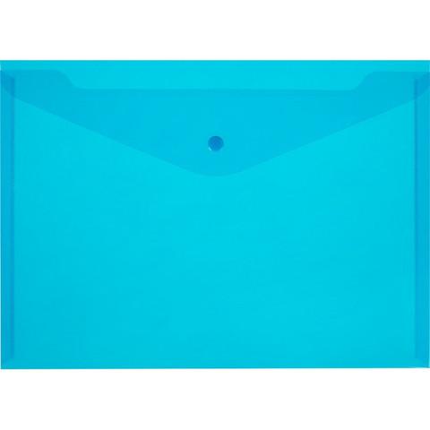 Папка-конверт на кнопке 180 Элементари, син.10шт/уп