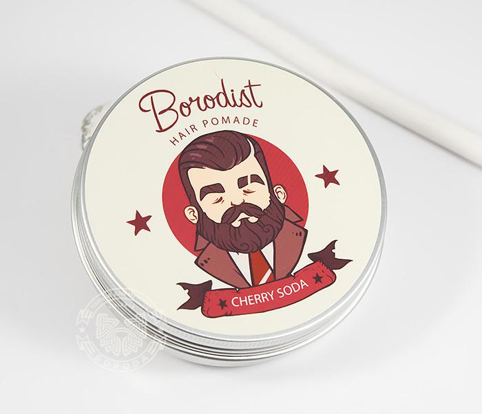 RAZ202-1 Бриолин «Borodist» для укладки волос с ароматом «Cherry Soda» (100 гр)