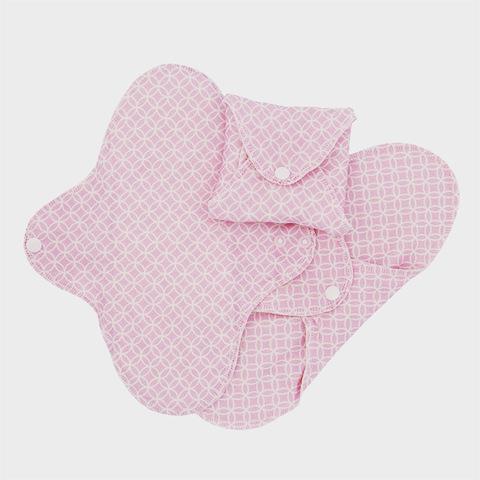 Многоразовые прокладки женские, орг.хлопок, 3шт., Regular, Pink Halo