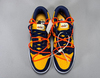 Off-White x Nike Dunk Low 'Gold/Midnight Navy'