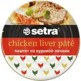 Паштет из куриной печени Setra, 100гр