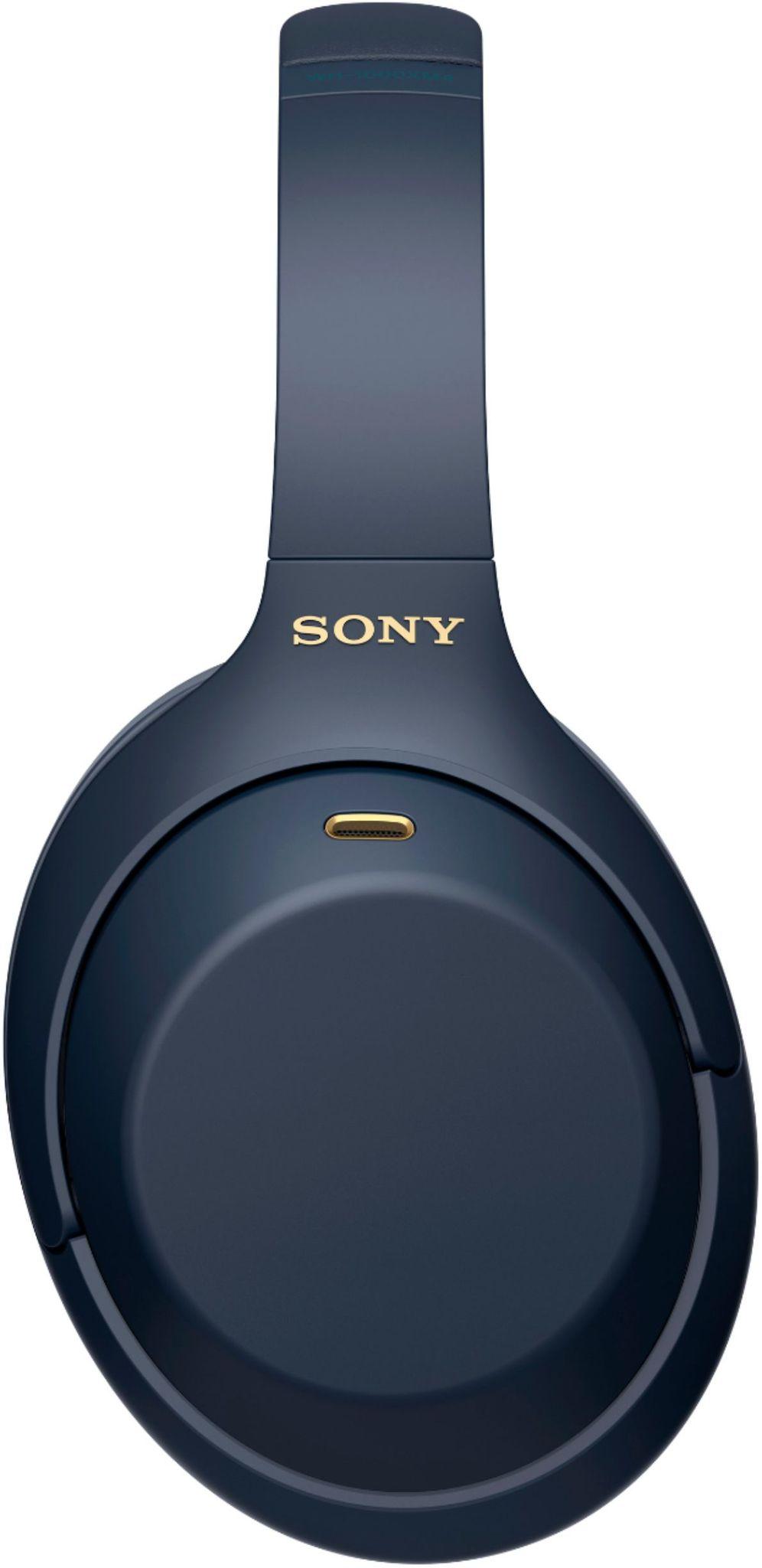 Беспроводные наушники Sony WH-1000XM4L синего цвета с шумоподавлением