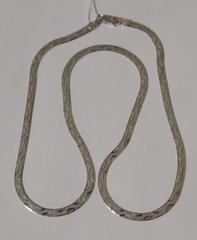 Лента с волной (серебряная цепочка)