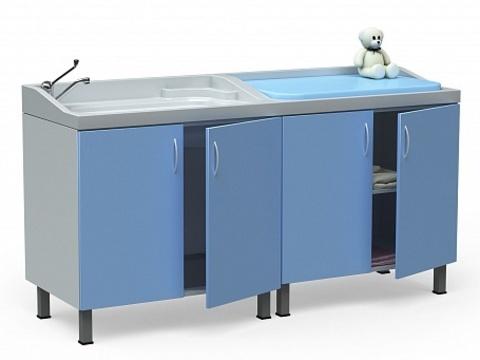 Стол для санитарной обработки, купания новорожденных БТ-24-180-Н - фото