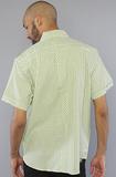 Рубашка зеленая фото сзади