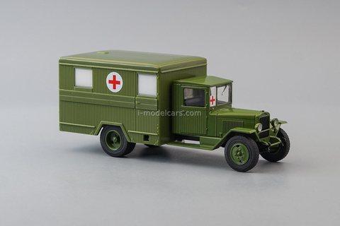 ZIS-44 Ambulance khaki 1:43 DeAgostini Auto Legends USSR Trucks #51
