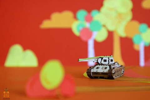 Танк Т-34 UNIT (UNIWOOD)