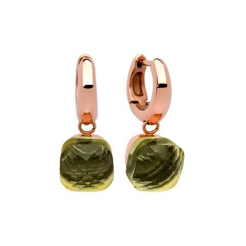 Серьги Firenze olivine 300149 G/RG