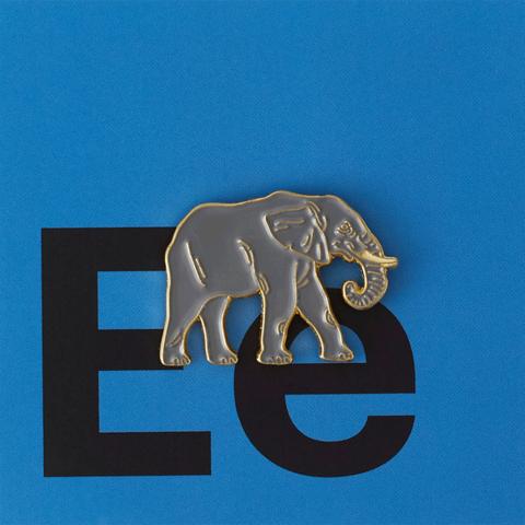 Значок металлический Зоопарк: Слон