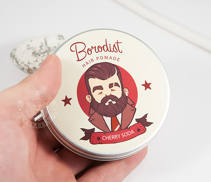 RAZ202-1 Бриолин «Borodist» для укладки волос с ароматом «Cherry Soda» (100 гр) фото 04