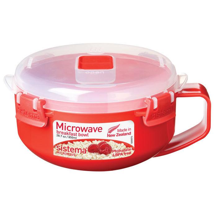 """Чаша для приготовления завтрака в СВЧ Sistema """"Microwave"""" 850 мл"""