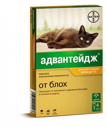 Адвантейдж для кошек до 4 кг