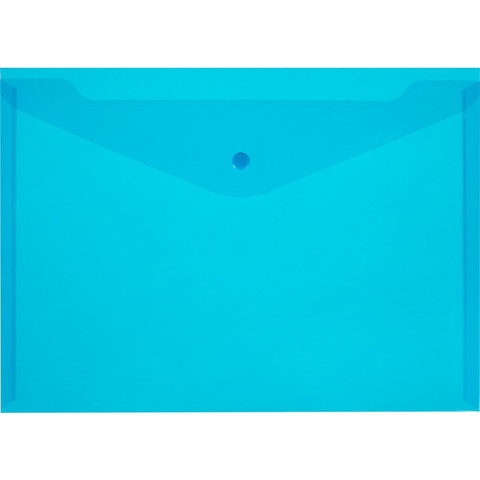 Папка-конверт на кнопке 150 Элементари, син.10шт/уп