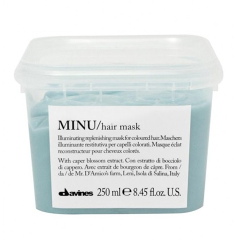 Davines Essential Haircare MINU: Восстанавливающая маска для окрашенных волос (Minu Hair Mask), 250мл/1л