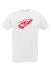 Футболка с принтом НХЛ Детройт Ред Уингз (NHL Detroit Red Wings) белая 0002