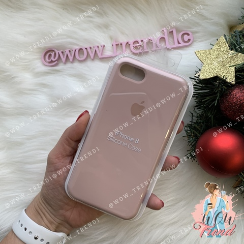 Чехол iPhone 7/8 Silicone Case /pink sand/ розовый песок 1:1