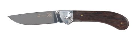 Нож Stinger, 105 мм, рукоять: сталь/дерево, серебр.-корич., картонная коробка