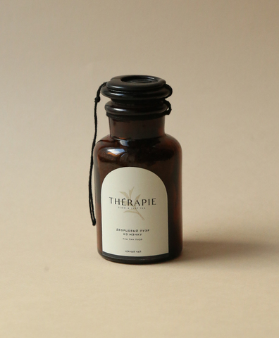 Черный чай - «Дворцовый пуэр из Мэнку» (Гун Тин Пауэр) малая стеклянная склянка