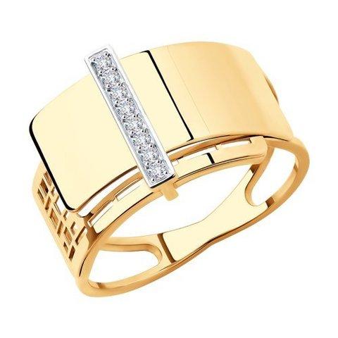 018772 - Кольцо из золота с фианитами