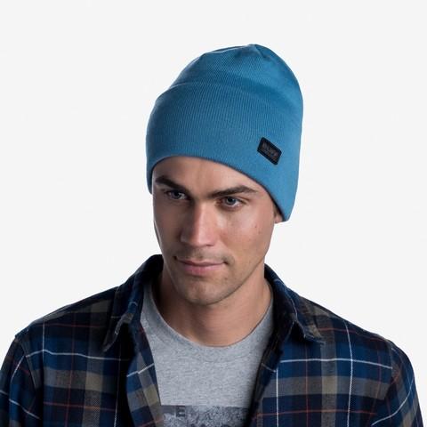Вязаная шапка Buff Hat Knitted Niels Dusty Blue фото 2