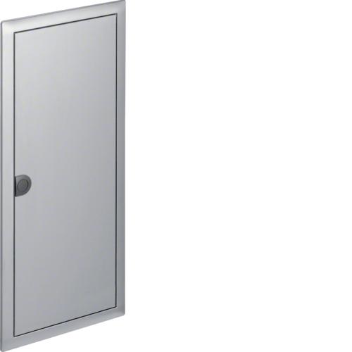 Наружная рамка с дверцей для встраиваемого щитка Volta,4-рядного, нерж.cталь