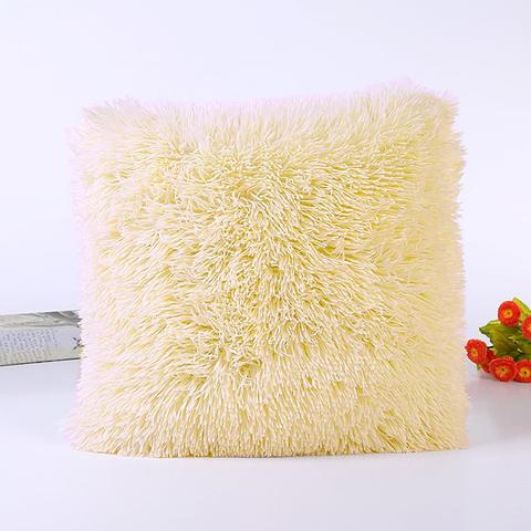 Подушка интерьерная с длинным ворсом