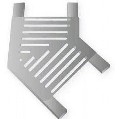 Угловая под плитку 45 градусов для переливной решетки 195х33 мм из нержавеющей стали AISI-304 XENOZONE