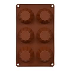 Форма из силикона «Кексы мини» 30х18х4 см, 6 ячеек