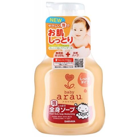 Гель для купания малышей пенящийся с увлажняющим эффектом Saraya Arau Baby 450 мл