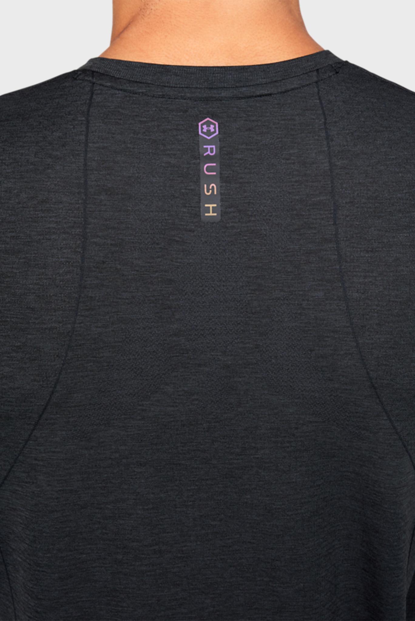 Мужская черная спортивная футболка Rush HG Seamless Fitted SS Under Armour